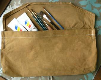 Canvas Wrap Bag, Carpenter, Artist, Painter, Tool Bag, Vintage