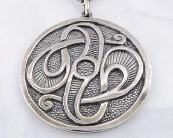"Silver Pendant ""Great love"""