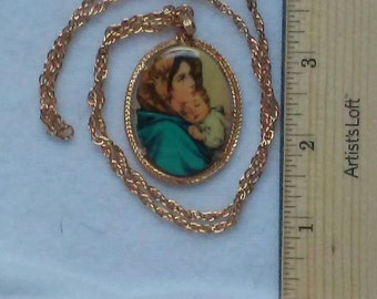 """Mother & Child 24"""" necklace"""