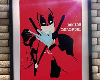 BUY 2 GET 1 FREE Deadpool cross stitch pattern/deadpool crossstitch/marvel cross stitch/deadpool pattern/deadpoolstitch/