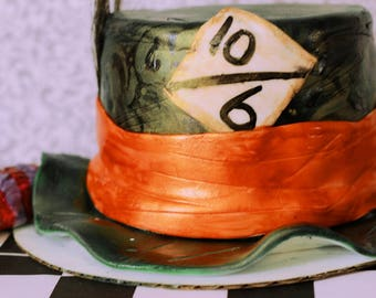 Organic Mad Hatter Themed Cake