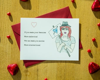Social Justice, Valentine's Day Card, For Him, Hipster, SJW, Funny, Politics, Feminism, Intersectional