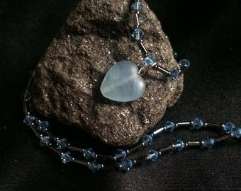 Necklace with Aquamarine - 45 cm