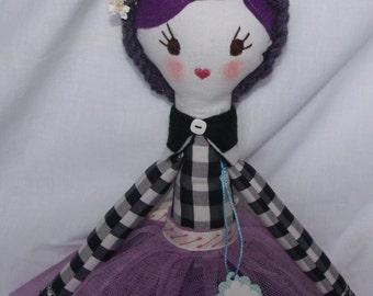 Hand-made rag doll, Fantine, doll, doll fabric 63 CM