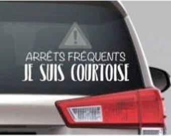 Sticker I'm polite, courteous
