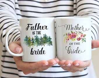 Mother, Father of the Bride, Mug Set, Gift for Mom and Dad, Mother Wedding Gift, Gift For Dad, Coffee Mug, Wedding Gift For Father