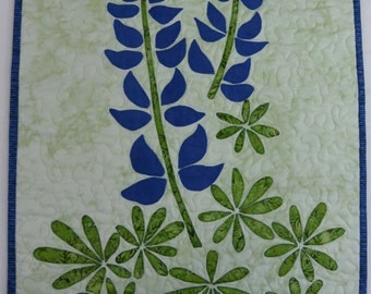 Bluebonnets Applique Quilt
