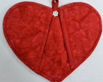 Red Heart Potholder