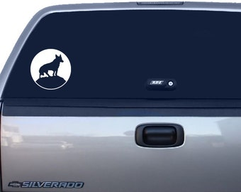 Wolf Decal, Wolf Sticker, Moon Decal, Moon Sticker, Car Window Decal, Laptop Decal, Macbook Decal, Yeti Cup Decal, Phone Decal, Ipad Decal