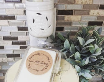 MASON JAR WARMER, plug in, wax melt warmer, night light, ceramic, white mason jar, home sweet home, no lit warmer, farmhouse style