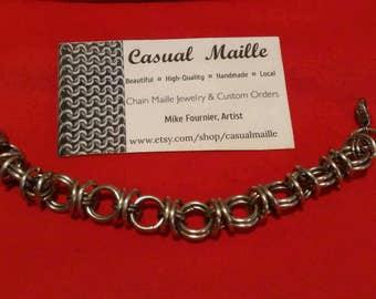 """Bracelet 7""""-8"""" Stainless Steel Captive Ring"""