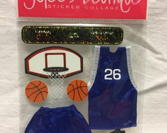 Jolee's Boutique Dimensional Basketball Sticker, Sports Stickers, Basketball Stickers
