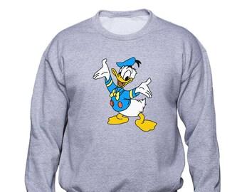 Donald Duck feliz / Walt Disney / unisex con capucha / unisex sudadera de dibujos animados de suéter / Disney World / abrazos gratis / cumpleaños de hijos / divertidos / (DD03)