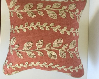 Corded embroidery decorative pillow