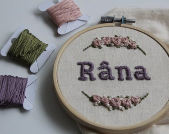 Embroidery frame with your name!