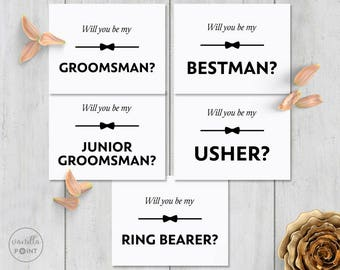 Will You Be My Groomsman Printable Best Man Card Will You Be My Usher Ring Bearer Best Man Invitation Groomsman Card Groomsmen Proposal Card