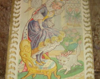 4 Vintage Nursery Rhyme Postcards
