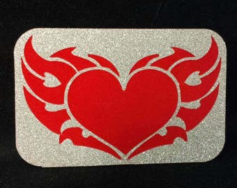 Flaming heart 3D magnet
