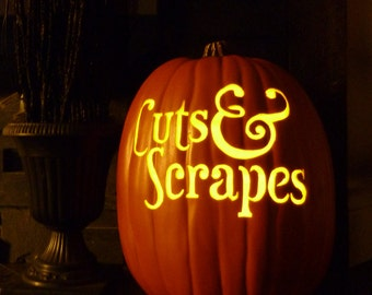 Custom logo pumpkin, custom jack o' lantern, custom fall decoration, custom Hallowe'en decoration, foam pumpkin, custom company pumpkin