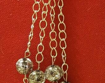 Shiny silver dangles