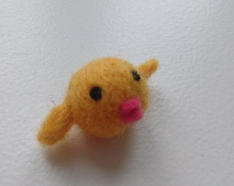 Small handmade felted chick