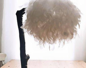 Feather lamp stand