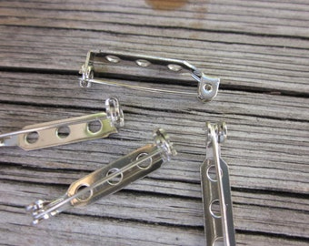 Silver pin back // Pin blanks // Silver brooch blank