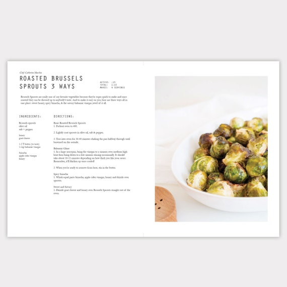 Attractive Description. Minimalist InDesign Cookbook Template
