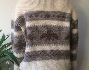 Canadian pure virgin wool eagle sweater