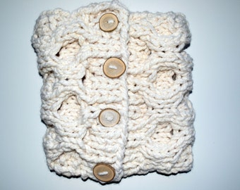 Super Chunky Knit Honeycomb Scarf || THE BURLY BEAR