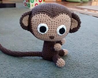 Crocheted Stuffed Monkey