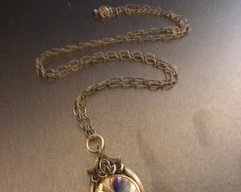 Antique Looking Jewel Pendant Necklace