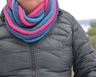 Blue and Pink infinity scarf