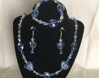 12: Necklace, Bracelet, Earrings Set
