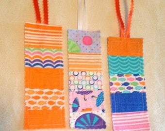 Fabric Bookmarks Set of 3