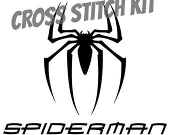Template for spider man chest emblem from thefoamcave on etsy studio spiderman logo cross stitch kit voltagebd Image collections