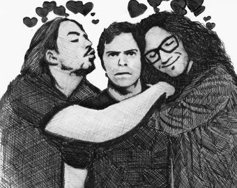 Game Grumps (Arin, Brian, and Danny) Realism Drawing