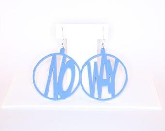 NO WAY hoop perspex earrings