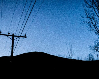 Winters sunset blues