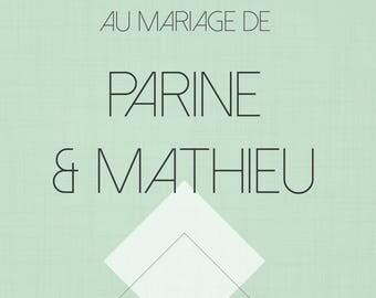 Affiche de Mariage - Bienvenue - Diamond - Personnalisable