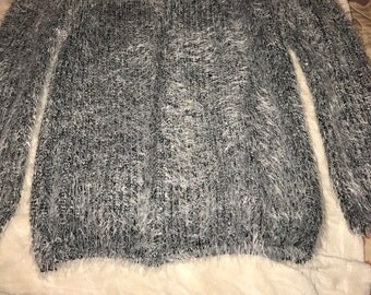 Furry grey sweater