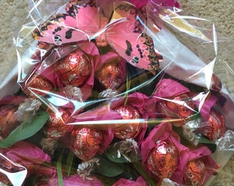 Strawberries and cream Lindor truffles  tied bunch / bouquet