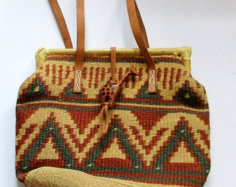 Woven Purse, Handwoven Purse, Handwoven Bag, Boho Purse, Handmade Purse, Handmade Bag, Giraffe Bag, Giraffe Purse
