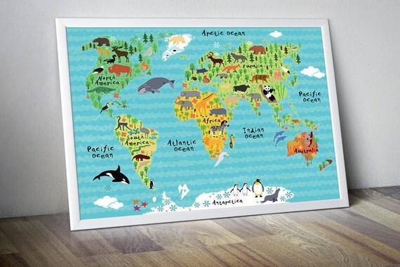 Nursery World Map Nursery Map Map For Kids World Map For Kids - World wall map kids