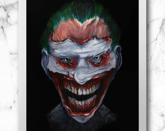Joker print (oil painting)