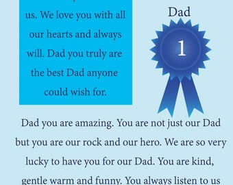 Our Dad Fathers Day Card with removable laminate