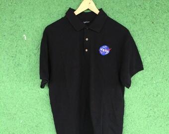 Black NASA Polo Shirt