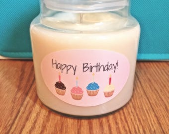 16 oz. Hand Poured 'Happy Birthday' Soy Wax Candle