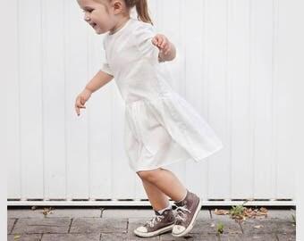 White batiste dress for girls