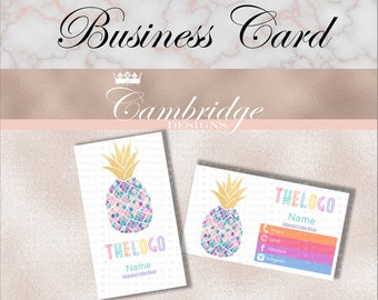 Foil Pineapple Inspired By LuLaRoe Business Cards - Home Office Approved Fonts and Colors Business Card, Digital